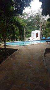 The pool in between